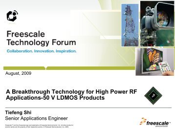 A Breakthrough Technology for High Power RF Applications-50 V