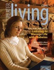 Winter 2012 Edition Topics - Greater Baltimore Medical Center