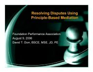 Resolving Disputes Using Principle-Based Mediation - Foundation ...
