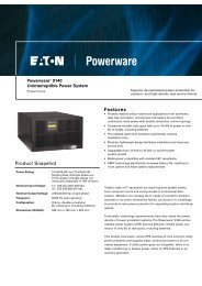 Eaton 9140 Product Brochure - Fusion Power System