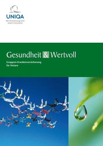 Gesundheit & Wertvoll Gruppen ... - Uniqa Versicherungen AG