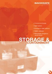 Backsafe Australia - STORAGE AND CONTAINMENT EQUIPMENT