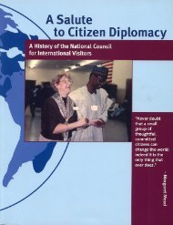 A Salute to Citizen Diplomacy - Foreign Policy Association