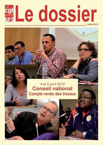 Conseil national des 4 et 5 avril 2012.indd - Féderation - La cgt