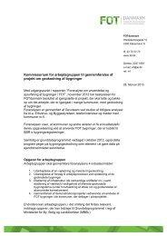 Kommissorium for FOT-byggepilot - FOTdanmark