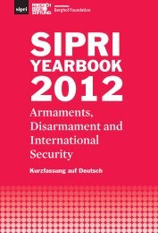SIPRI Yearbook 2012: Kurzfassung auf Deutsch