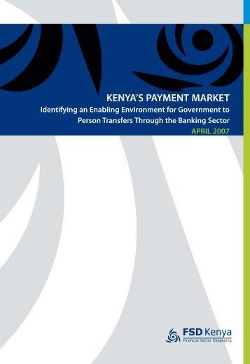 Kenya's payment market: Identifying an enabling ... - FSD Kenya