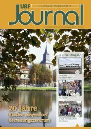 UBF Journal 03/2012 - Unternehmensgruppe Burchard Führer