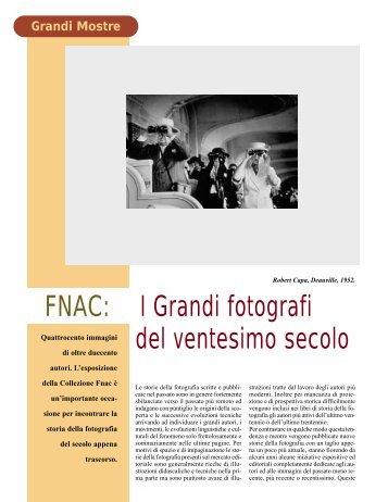 FNAC: I Grandi fotografi del ventesimo secolo - Fotografia.it