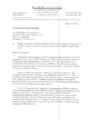 Comment letter from The McMillan Law Firm - Fair Political Practices ...
