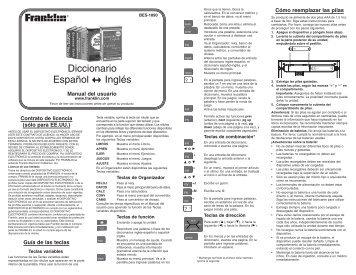 Diccionario Español Inglés - Franklin Electronic Publishers, Inc.