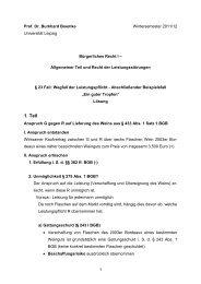 § 16: Inhaltliche Anforderungen an ein ... - Universität Leipzig