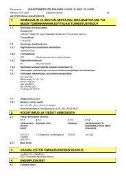 1. kemikaalin ja sen valmistajan, maahantuojan tai muun ... - Fixus