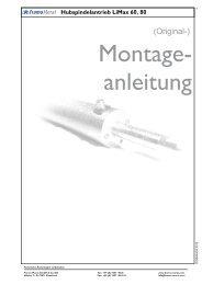 Montageanleitung - Framo Morat