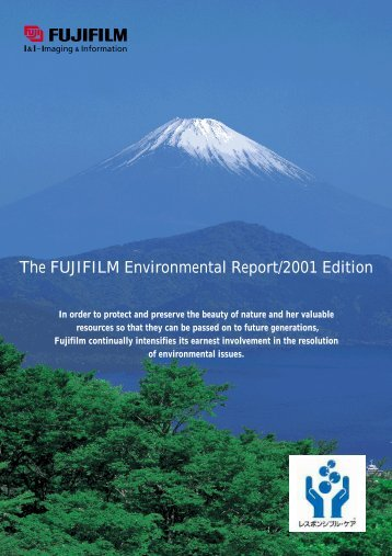 The FUJIFILM Environmental Report/2001 Edition