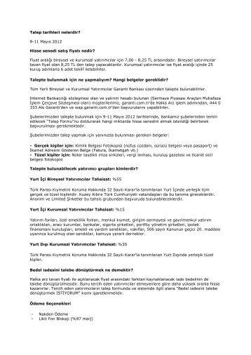 Garantiden Haberler - Garanti Bankası