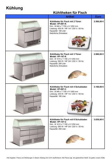 Kühlteken für Fisch - Gastro Concept