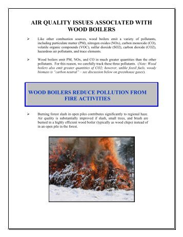air quality issues associated with wood boilers - Fuels for Schools ...