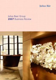 Julius Baer Group 2007 Business Review - GAM Holding AG