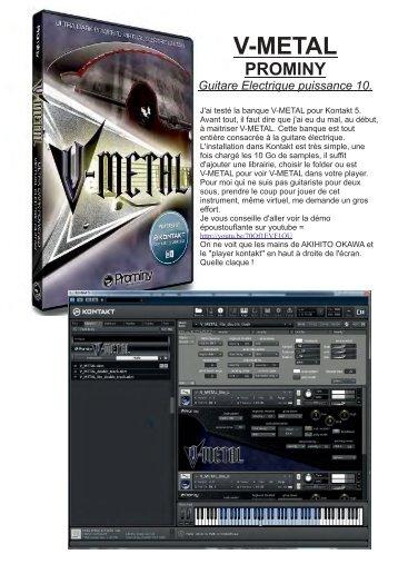 V-METAL PROMINY Guitare Electrique puissance ... - Nushock Music