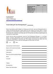 Voranmeldung für das Kindergartenjahr - Freier-kindergarten ...