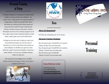 Personal Training - Fort Campbell MWR