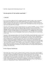 Hvordan påvirker EU det nordiske samarbeidet ? - Frit Norden