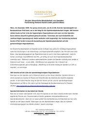 Ein Jahr Spendenabsetzbarkeit: FVA zieht positive Bilanz