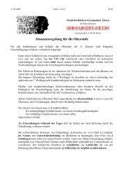 Absenzenregelung für die Oberstufe - Friedrich-Rückert-Gymnasium ...