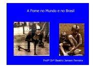 Beatriz Jansen Ferreira - Fome no mundo e no Brasil - CASA