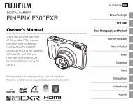 FINEPIX F300EXR Owner's Manual - Fujifilm
