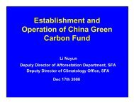 Establishment and Operation of China Green ... - Forest Trends