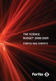 Science Budget 2008/2009 - Forfás