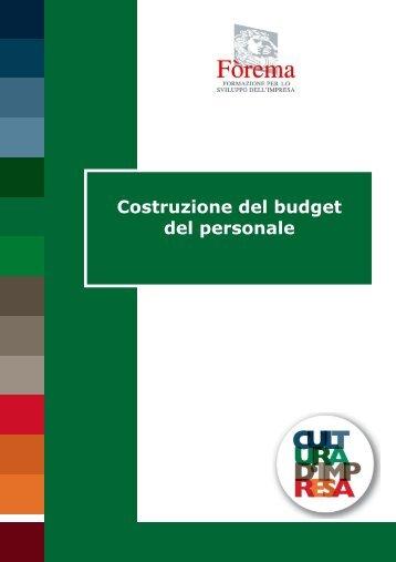 Costruzione del budget del personale