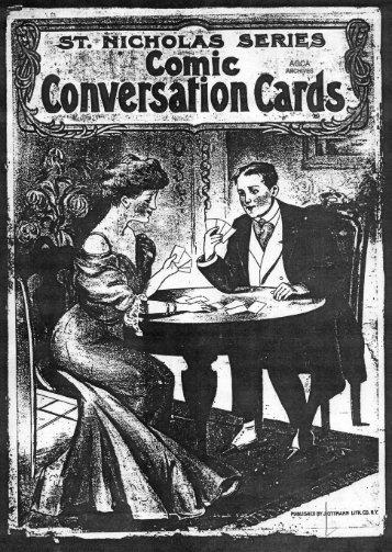 Comic Conversation Cards