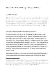 Workshop: B3 -– Individuelle Förderung als Bedingung für Inklusion