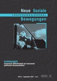 Vollversion (3.36 MB) - Forschungsjournal Soziale Bewegungen
