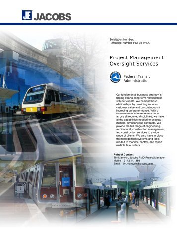 Project Management Oversight Services - Federal Transit ...