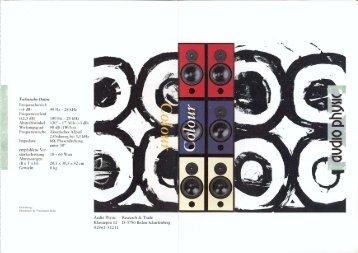 Colour flyer german - Audio Physic