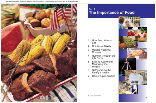 The Importance of Food - Goodheart-Willcox