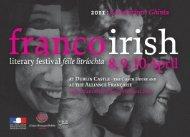 FI 2011:FI 25/02/2011 10:03 Page 1 - Franco-Irish Literary Festival