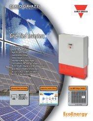 Grid-Tied Inverters - Carlo Gavazzi
