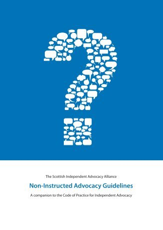 Non-Instructed Advocacy Guidelines - Gateshead Advocacy ...