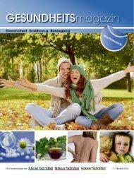 Gesundheitsmagazin Herbst 2013