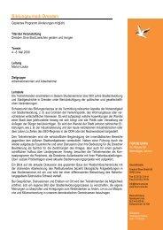 Programm Dresden 2009 - Forum Unna