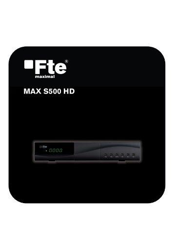 MAX S500 HD - FTE Maximal