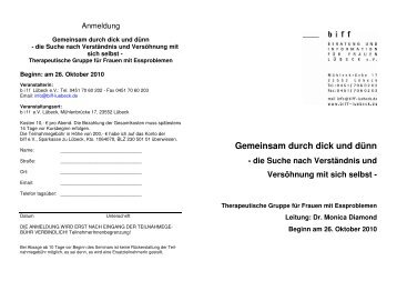 Flyer und Anmeldeformular (PDF-Download)