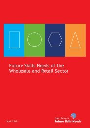 Future Skills Needs of the Wholesale and Retail Sector - Skills Ireland