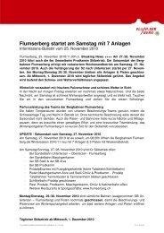 BBF-Infobulletin 25.11.10 - Flumserberg