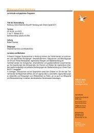 Geplanter Programmablauf Bildungsurlaub Hamburg 2013... - Forum Unna